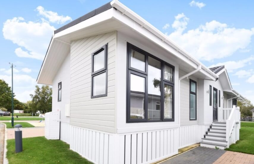 Front site of residential park home for sale